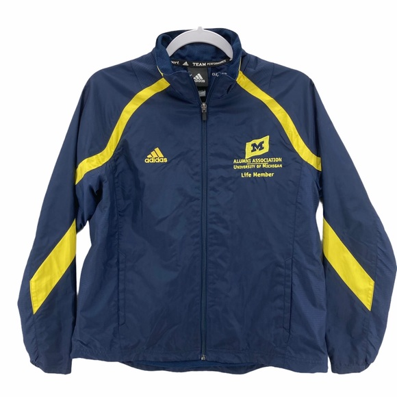 Adidas U of M Alumni Full Zip Windbreaker Jacket